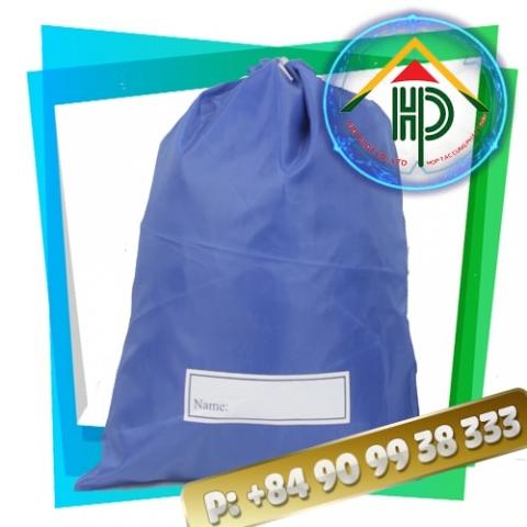 Blue Drawstring Backpack