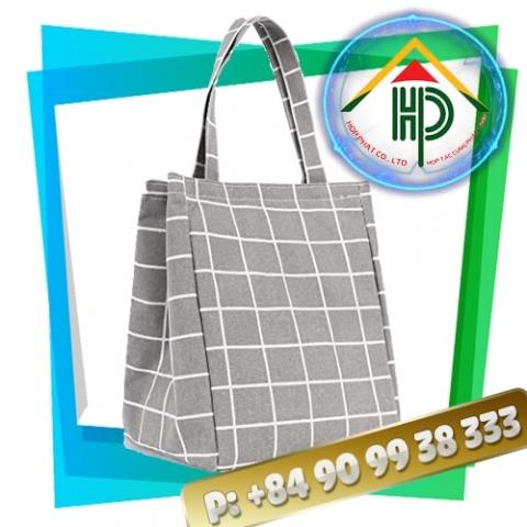 Grey Checkered lunch bag