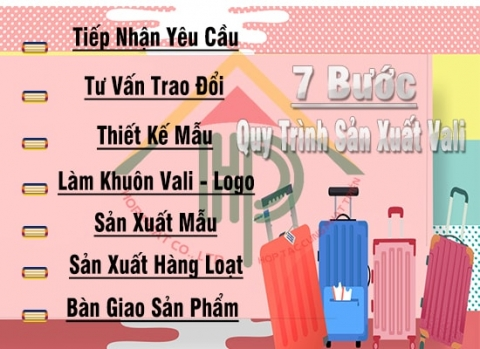 7 bước quy trình sản xuất vali kéo tại hợp phát