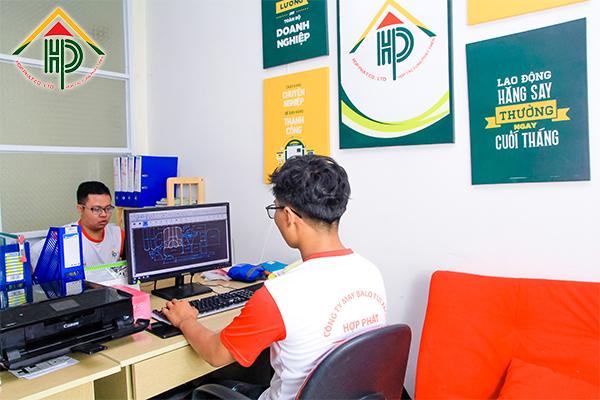 Hình ảnh văn phòng của công ty may Hợp Phát
