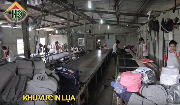 Hình ảnh xưởng in lụa Hợp Phát