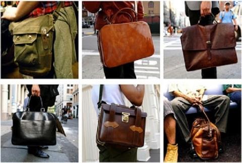 Chọn túi xách có màu sắc đơn giản cho nam công sở