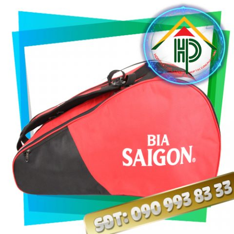 May theo yêu cầu túi đựng vợt Bia Sài Gòn