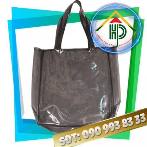 Túi xách thời trang pvc màu khói