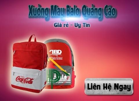 xưởng may balo quảng cáo giá rẻ tphcm