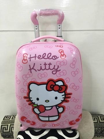 Balo kéo hình Hello Kitty hồng