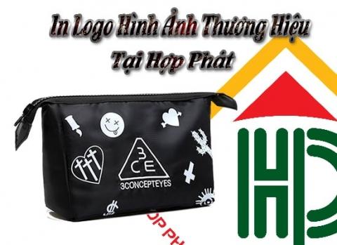 in hình ảnh logo thương hiệu cho túi đựng mỹ phẩm