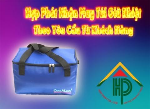 may túi giữ nhiệt theo yêu cầu tại hợp phát