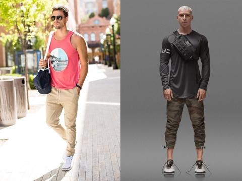 túi đeo chéo kết hợp với quần jogger