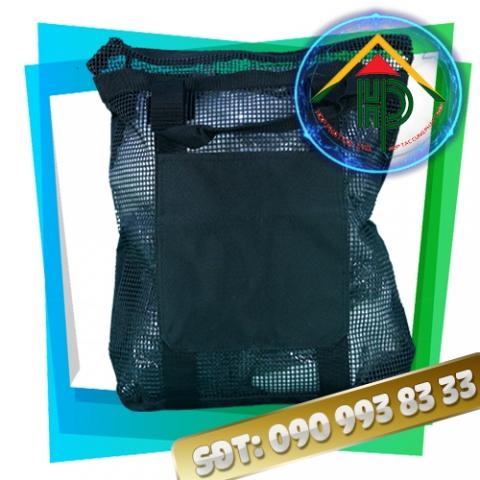 Túi thời trang lưới đen mặt trước