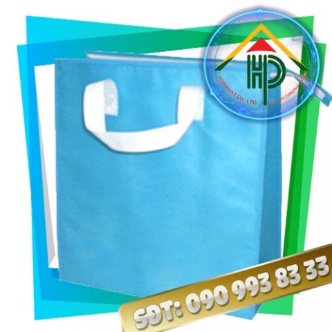 Túi vải PP dệt màu xanh da trời