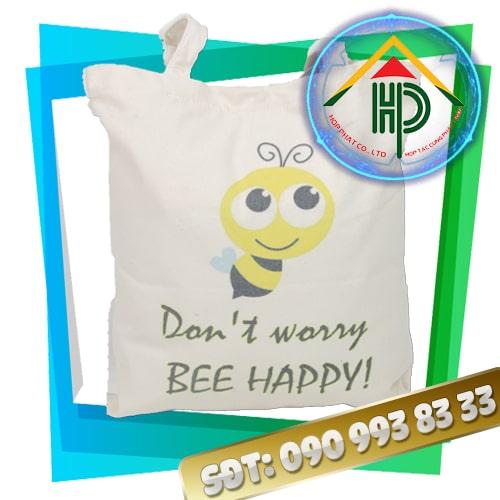 Túi vải canvas bee happy