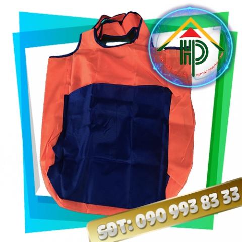 Túi xách thời trang gấp gọn màu cam mặt trước