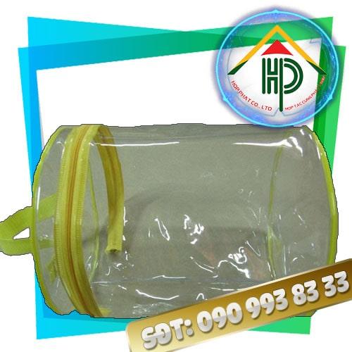 Túi PVC Hình Trụ Màu Vàng