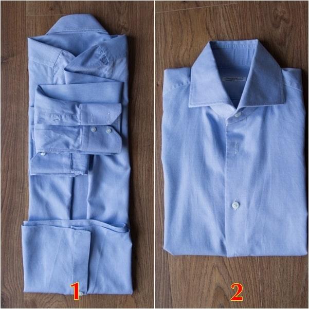 cách gấp áo dài tay không bị nhăn