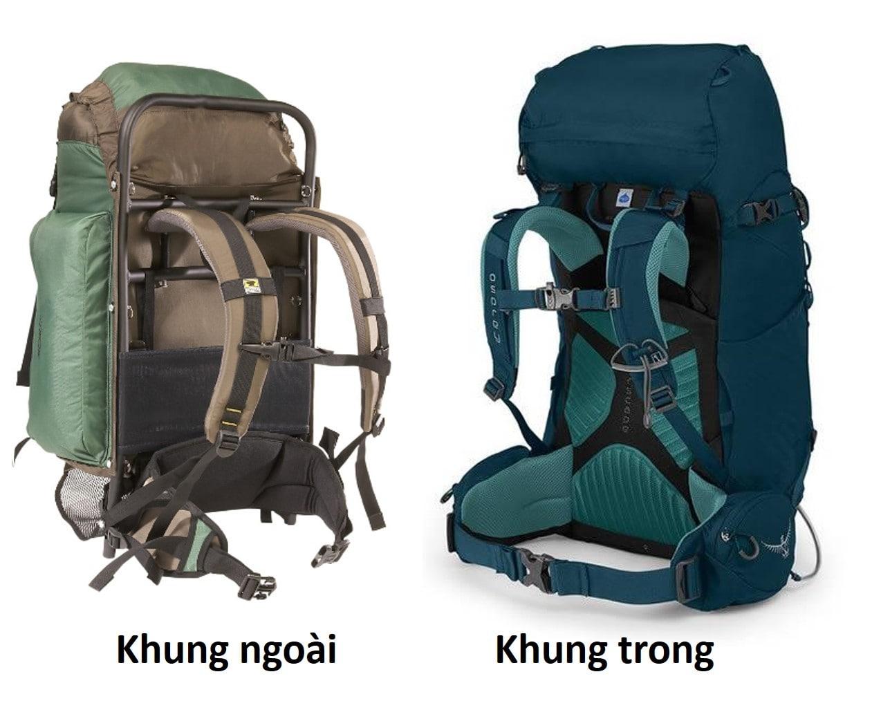Túi du lịch khung ngoài và Túi du lịch khung trong