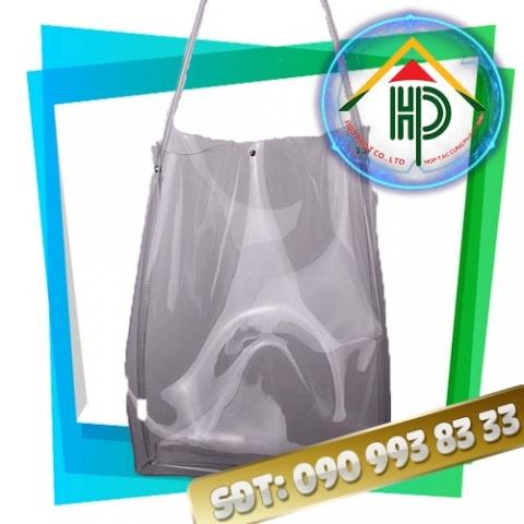 Túi PVC ép nhiệt màu xám khói