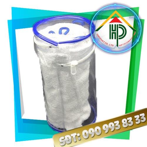 Túi PVC Hình Trụ Màu Xanh