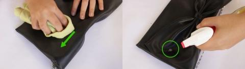 Hướng dẫn làm sạch túi da bằng cồn