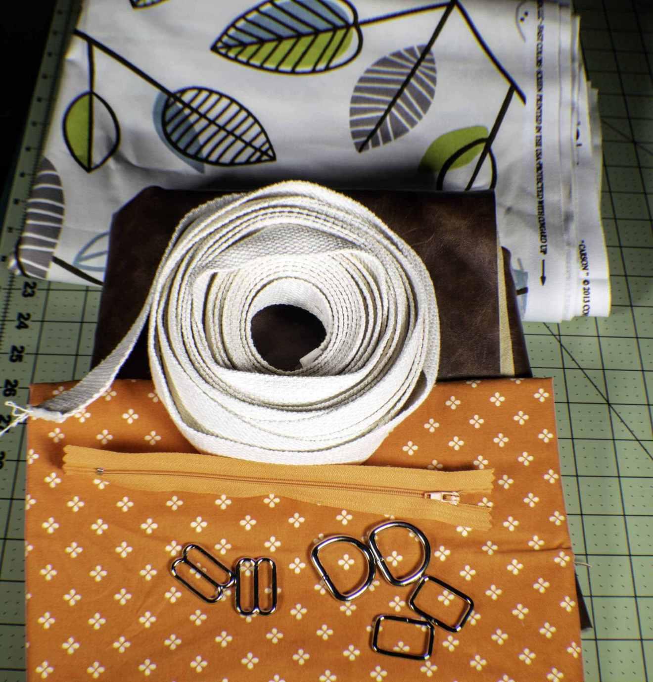 nguyên vật liệu may balo handmade