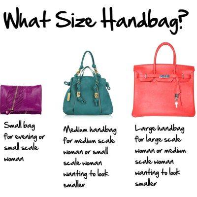 size túi xách là gì?