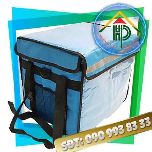 Túi giữ nhiệt giao hàng màu xanh bích