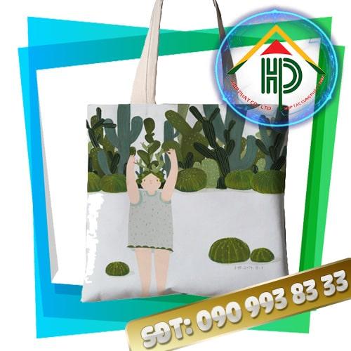 Túi tote may bằng vải canvas
