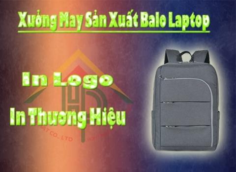 Xưởng may balo laptop Hợp Phát in logo thương hiệu