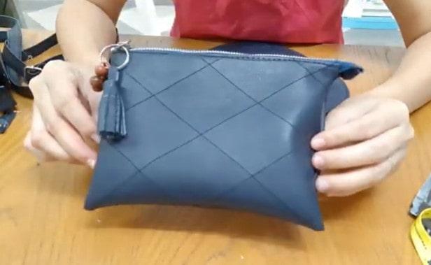 Hoàn thành cách làm túi clutch cầm tay nam