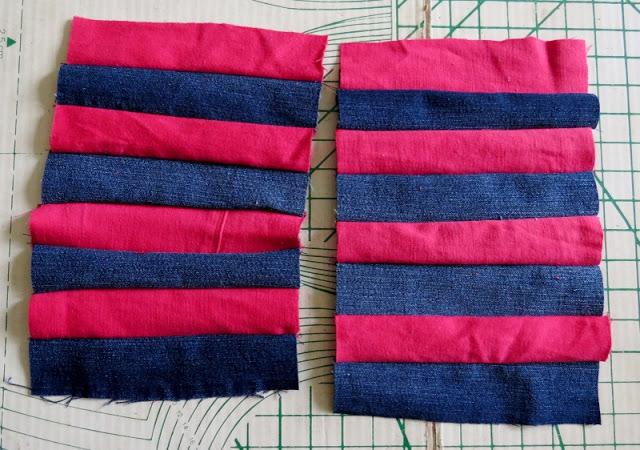 hai miếng vải bên ngoài túi đựng viết