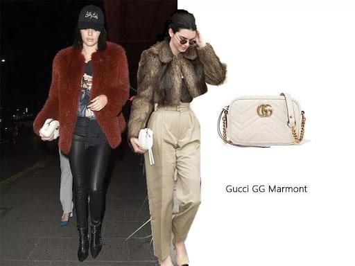 Mẫu túi xách Gucci dạng hộp Kendall Jenner