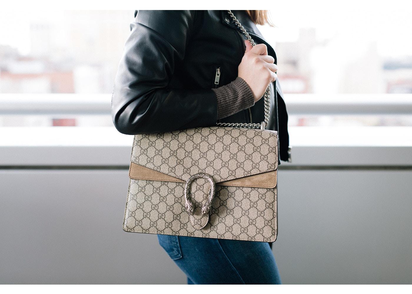 Mẫu túi xách Gucci đeo vai Dionysus GG Supreme
