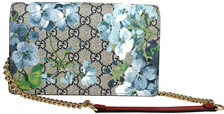 Túi đeo chéo Gucci Women's Blue Bloom Supreme canvas Chain Shoulder.