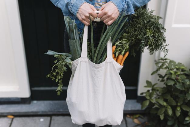 sử dụng túi tote để đựng thực phẩm