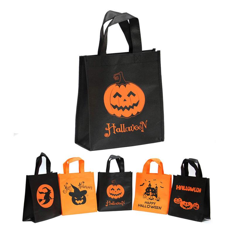 trang trí túi vải không dệt thành túi đựng kẹo mùa Halloween