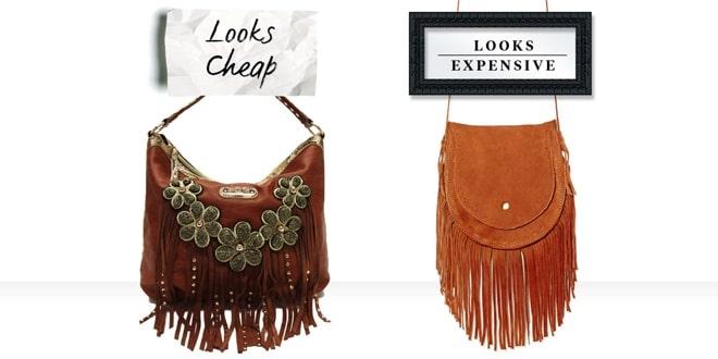 Trang trí quá rườm rà cũng biến chiếc túi xách chông rẻ tiền