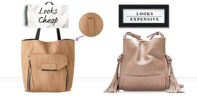 Túi xách chông rẻ tiền khi bị lỗi đường may