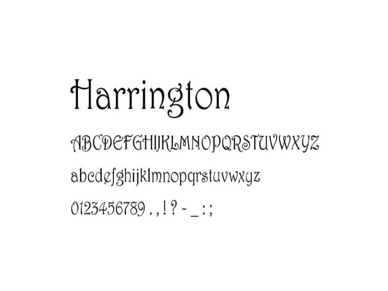 Phông chữ Harrington