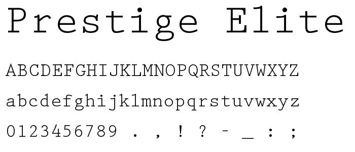 Phông chữ Prestige Elite