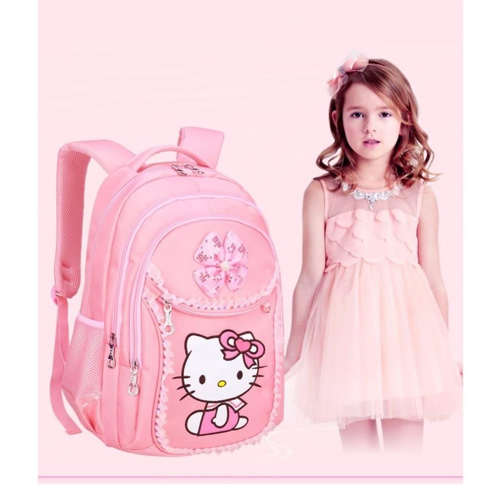 Mẫu balo Hello Kitty dành cho bé gái bằng vải