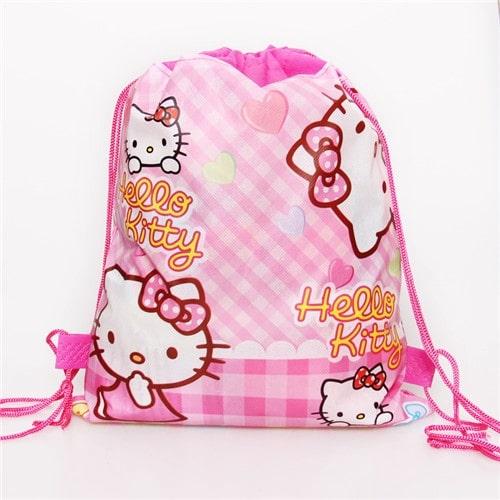 Mẫu balo Hello Kitty dành cho bé gái bằng dây rút