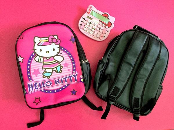 Mẫu balo Hello Kitty dành cho bé gái làm bằng chất liệu da