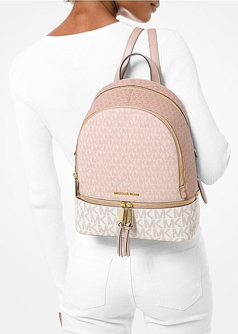 Mẫu balo Michael Kors Rhea Medium Color - Block Logo Backpack