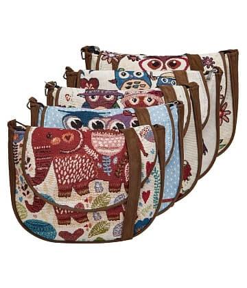 Túi xách đeo chéo thổ cẩm họa tiết hình thú
