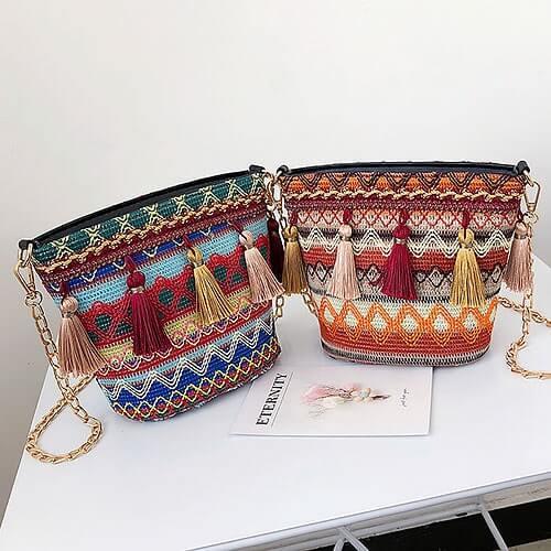 Túi xách đeo chéo thổ cẩm nét đẹp văn hóa cổ truyền