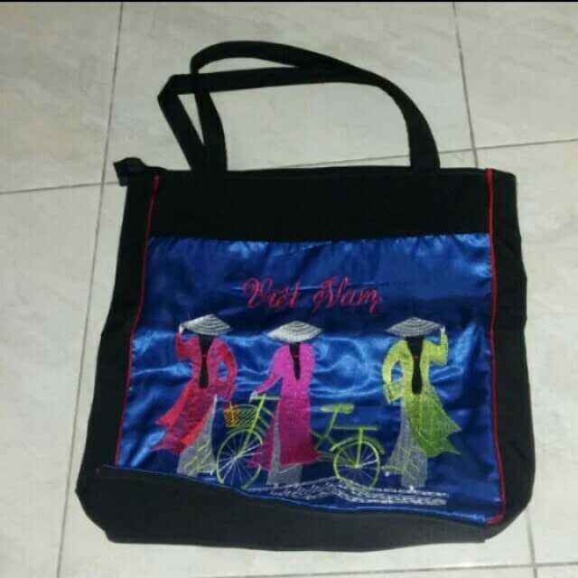 Túi vải bố in hình địa danh Việt NAm, quảng bá thương hiệu Việt