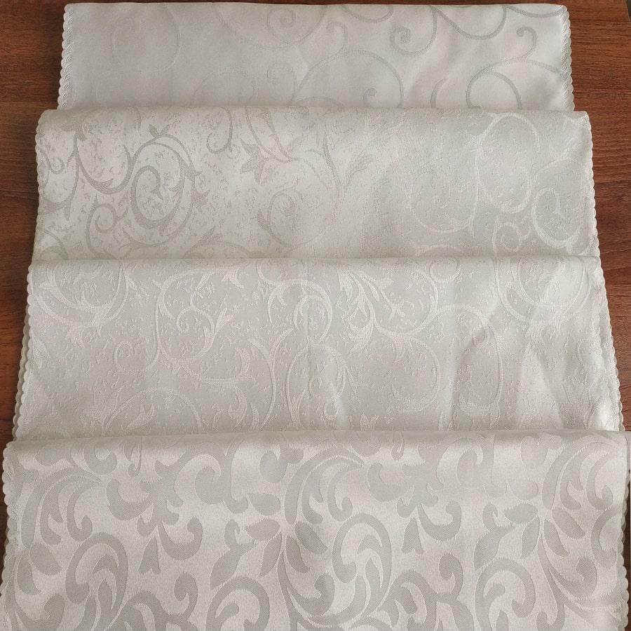 Vải gấm trắng