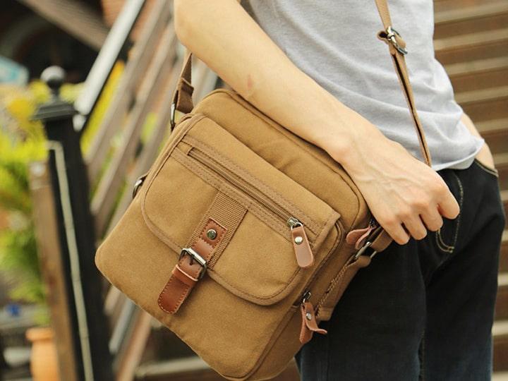 Túi xách vải bố thời trang đeo chéo nam giá rẻ