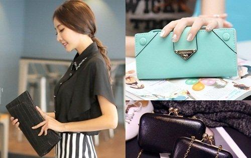 Chọn ví cầm tay nữ thời trang theo kiểu dáng