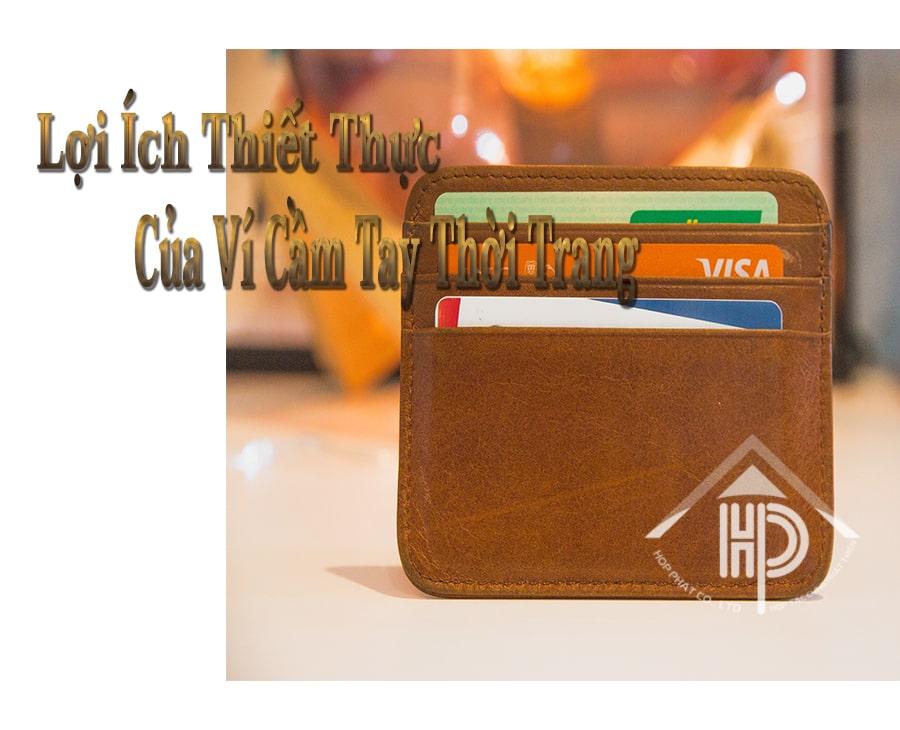lợi ích thiết thực của ví cầm tay thời trang